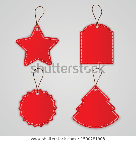 Christmas Sale Labels Set Isolated White Background Stock photo © adamson