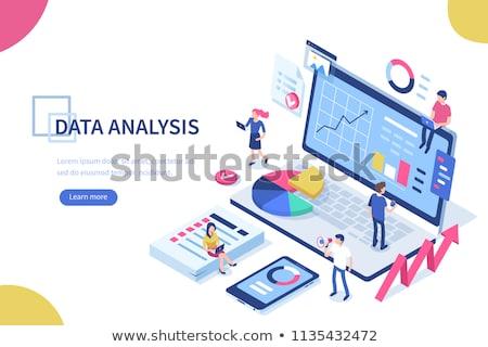 Teamwerk gegevens analytics infographics diagrammen mannelijke Stockfoto © robuart