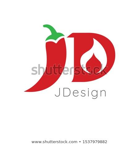 Cartas caliente chile diseño de logotipo fuego stock Foto stock © kyryloff