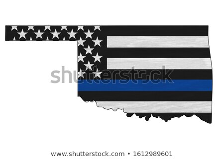 Оклахома полиции поддержки флаг иллюстрация форма Сток-фото © enterlinedesign