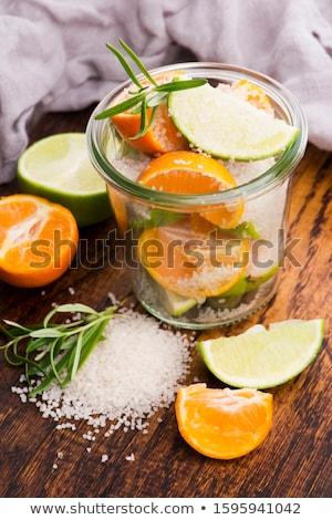 Préservé chaux mandarin sel bord Photo stock © joannawnuk