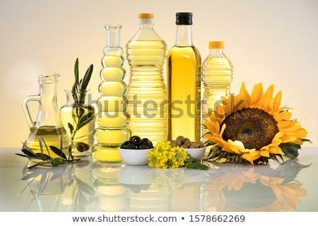 Oil products, Extra virgin olive, sunflower seed, rapeseed oil Stock photo © JanPietruszka