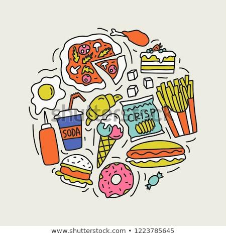 Cucina elementi cute doodle vettore Foto d'archivio © foxbiz
