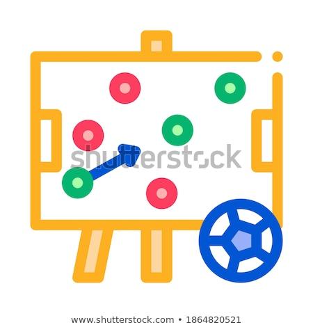 Calcio strategia desk icona contorno illustrazione Foto d'archivio © pikepicture