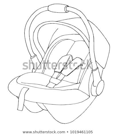 Sketch of a children's car seat. Child safety. Vector illustrati Stock photo © Arkadivna
