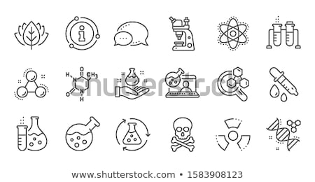 laboratory chemistry equipment, DNA test tube icon, lab flask icon. Stock Vector illustration isolat Stock photo © kyryloff