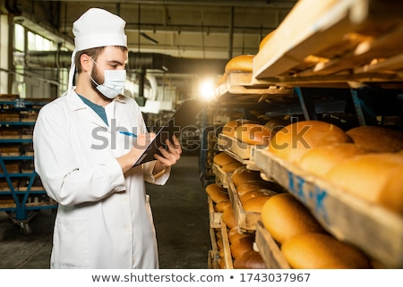 Baker pane forno faccia business alimentare Foto d'archivio © Kzenon