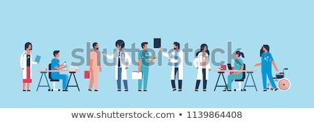 Kobieta lekarza testowanie chemikalia młodych kobiet Zdjęcia stock © Kzenon