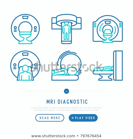 Mri arts laboratorium diagnostisch vector boord Stockfoto © robuart