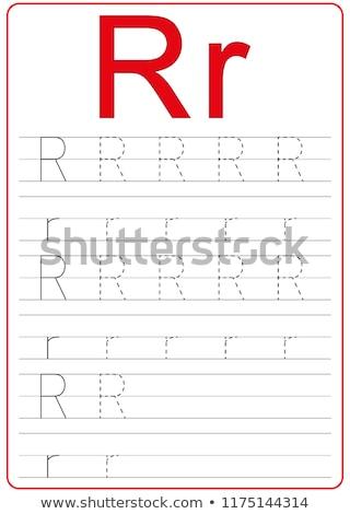 writting letter R worksheet for children Stock photo © izakowski