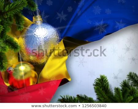 Boldog új évet zászlók csillagok gratulálok sablon átlátszó Stock fotó © evgeny89