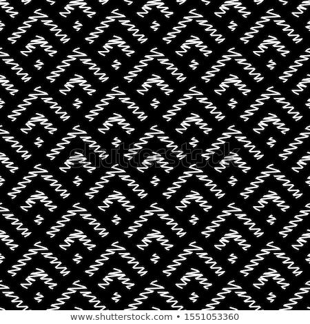вектора бесшовный черно белые рисованной волнистый линия Сток-фото © samolevsky