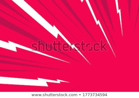 Gök gürültüsü karikatür renk örnek yıldırım hızlandırmak Stok fotoğraf © barsrsind