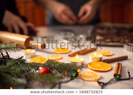 Pão de especiarias secas laranjas canela bebidas temporada Foto stock © dolgachov