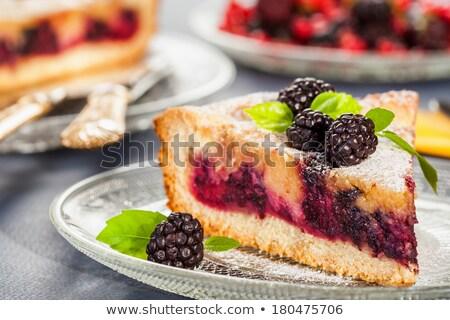 Casero BlackBerry tarta dulce pie arándano Foto stock © dash