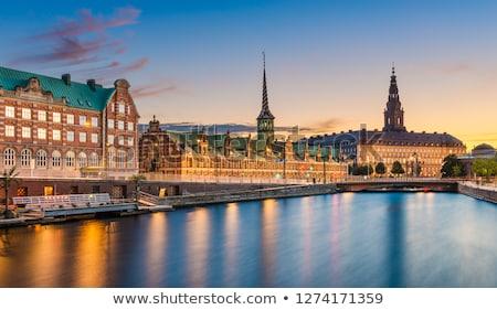 コペンハーゲン デンマーク 日没 景観 スカイライン 超高層ビル ストックフォト © vichie81