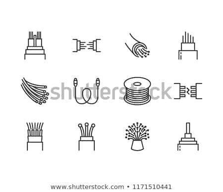 Electronics Store Pixel Perfect Linear Icon Stok fotoğraf © Nadiinko