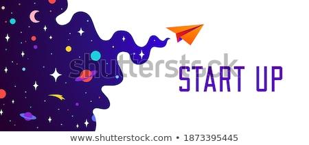 Universo motivazione banner nube buio pianeta Foto d'archivio © FoxysGraphic