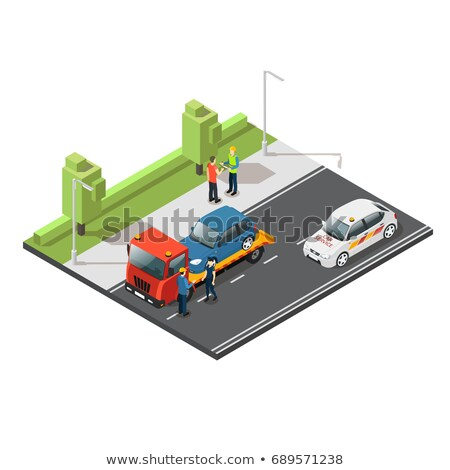 Towing Broken Car isometric icon vector illustration Stock photo © pikepicture
