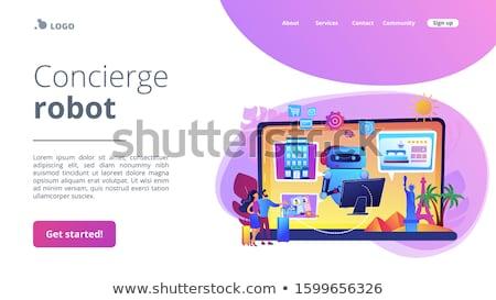 Okos vendégszeretet ipar online hotel előre bejelentkezés Stock fotó © RAStudio