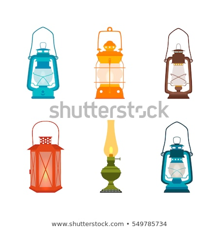 burning red oil lamp Stock photo © mayboro