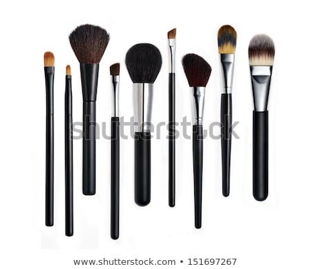 Foto stock: Cosméticos · make-up · produtos · isolado · branco · fundo