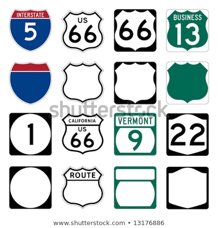 Вермонт шоссе знак зеленый США облаке улице Сток-фото © kbuntu