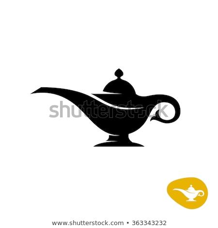 vetor · gênio · magia · lâmpada · fumar · ícone - foto stock © cidepix
