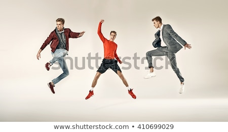man in sports suit jumps Stock photo © Paha_L