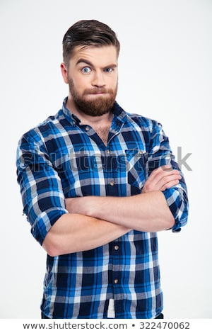 astonished man with crossed hands stock photo © paha_l