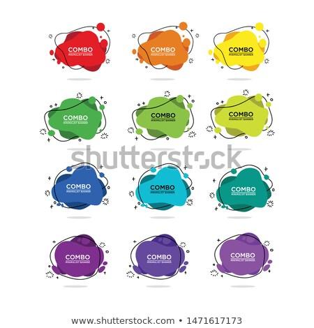 coloré · résumé · 12 · icônes - photo stock © cidepix