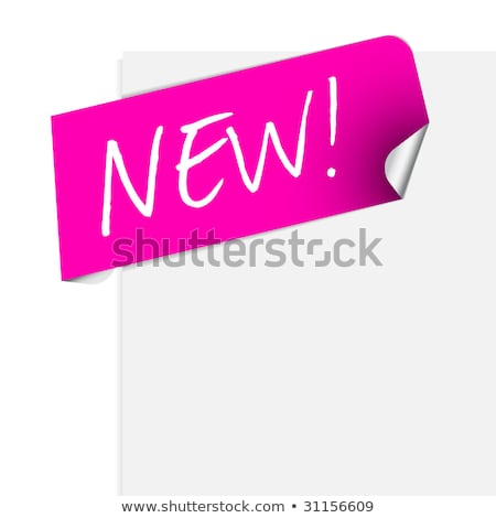 Pink label for some new product Stock photo © orson