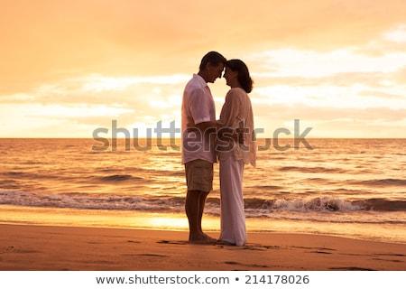 целоваться · пляж · женщину · любви · отпуск - Сток-фото © photography33