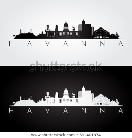 ハバナ シルエット スカイライン キューバ 市 建物 ストックフォト © blamb