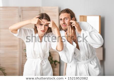 bonitinho · casal · creme · banheiro · amor - foto stock © photography33