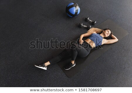 girl in health club on rubber ball 2 Stock photo © Paha_L
