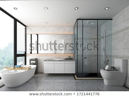 luxuoso · interior · banheiro · projeto · vela · ouro - foto stock © Victoria_Andreas