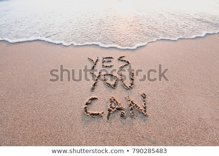 Yes you can Stock photo © bbbar