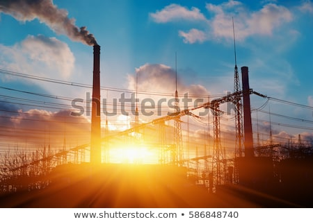 nuclear power plant during sunset stock photo © martin33