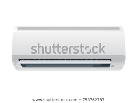 white air conditioner isolated on white background stock photo © ozaiachin