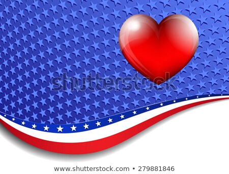 patriótico · bandeira · americana · EUA · coração · orgulhoso · bandeira - foto stock © fenton