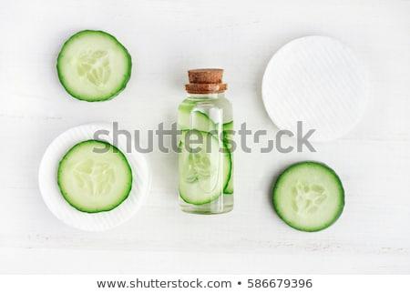 Taze yeşil salatalık üç beyaz Stok fotoğraf © klsbear