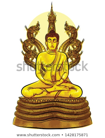 saturday golden buddha Stock photo © smithore