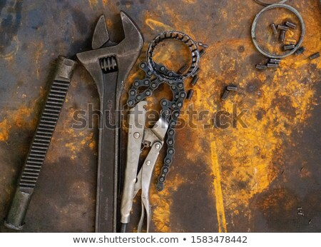 Craftsman wrench and clock Stock photo © photography33
