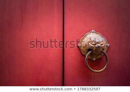 chinese temple door Stock photo © smithore