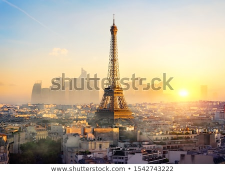 Tour Bild Paris kopieren Statue Stock foto © cla78