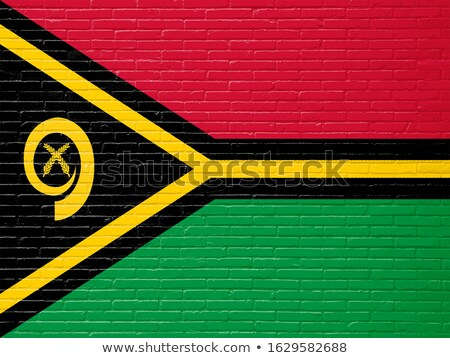 Bandeira Vanuatu parede de tijolos pintado grunge edifício Foto stock © creisinger