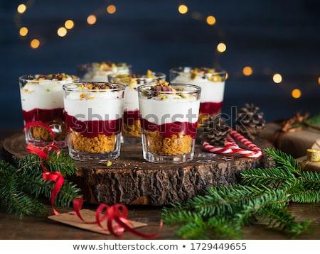 休日 デザート スライス カボチャ パイ ホイップクリーム ストックフォト © LynneAlbright