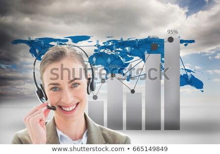 Nemzetközi üzlet személyzet ügyfélszolgálat visel headset számítógép Stock fotó © wavebreak_media