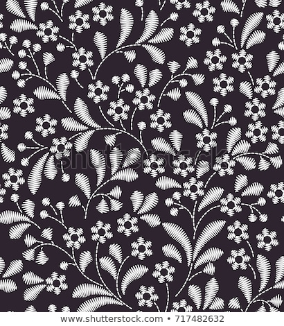 embroidery floral repeated pattern  Stock photo © creative_stock
